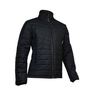 Calvin Klein Men's Textured Padded Jacket (Black, L) - L