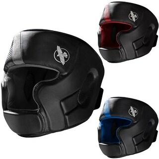 Hayabusa T3 Full Face T-Cross Hook and Loop Closure Vylar Leather MMA Headgear