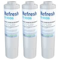 Replacement Water Filter For KitchenAid KFXS25RYMS2 Refrigerator Water Filter - by Refresh (3 Pack)