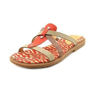 Naya Zephyr Women Open Toe Leather Slides Sandal