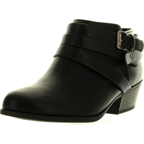 Soda Alum Womens Stylish New Arrival Buckle Strap Dress Ankle Bootie