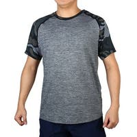 Polyester Quick-drying Clothes Stretchy Basketball Golf Sports T-shirt Gray M
