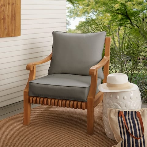 Kokomo Lounge Pillow and Cushion Set with Solid Sunbrella Fabric - 23.5 in w x 23 in d