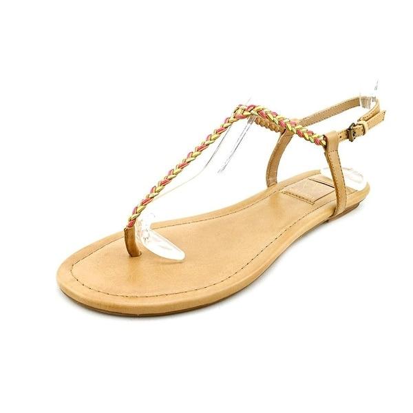 Ella Moss Womens Leanna Leather Split Toe Casual Slingback Sandals