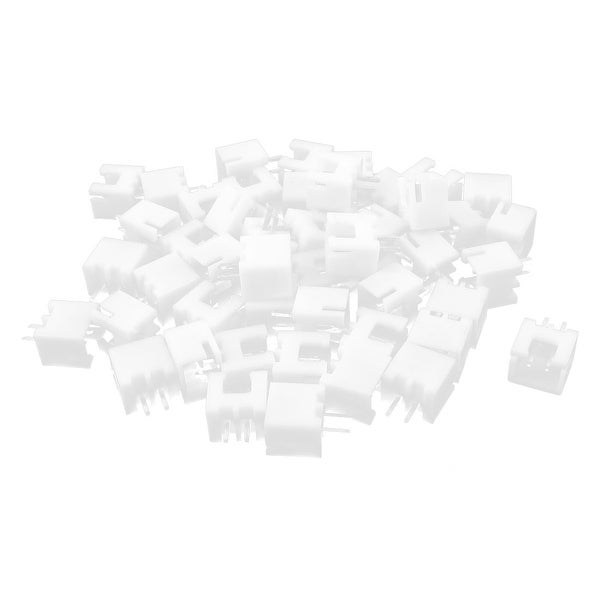 50pcs Single Row 2.54mm Pitch PCB Header Connector Socket White