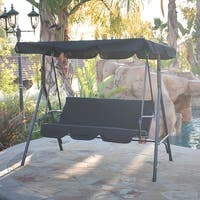 Belleze 3 Person Patio Swing Outdoor Canopy Awning Yard Furniture Hammock Steel