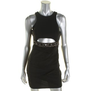 Roberta Womens Juniors Bodycon Dress Embellished Cut-Out - M