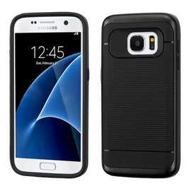 Insten Dual Layer Hybrid Rubberized Hard PC/ Silicone Case Cover For Samsung Galaxy S7