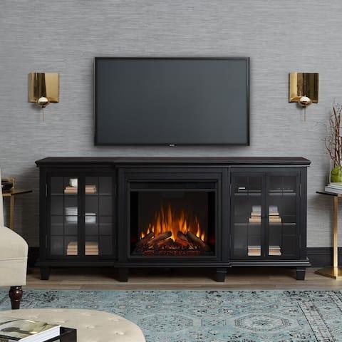 Marlowe Media Electric Fireplace Black