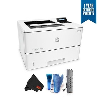 HP Monochrome LaserJet Pro Printer M501dn w/HP JetAdvantage Security, Bundle with 1 Year Extended Warranty + Surge Protector