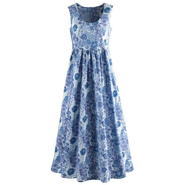 Catalog Classics by April Cornell Sleeveless Maxi Dress - Blue Floral Print