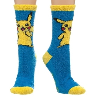 Pokemon Pikachu Fuzzy Juniors Slipper Socks