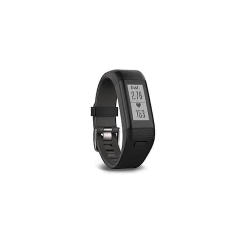 Garmin vivosmart HR Plus Fitness Band - (Black/Shark Fin Gray)