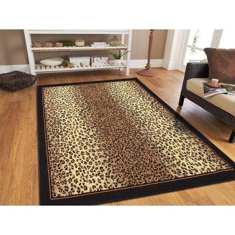 Porch & Den La Carter Brown Cheetah Print Area Rug