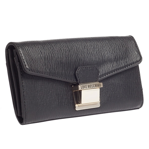 Moschino JC5551 0000 Black Zip Around Envelope Wallet - 7.5-4-1.2