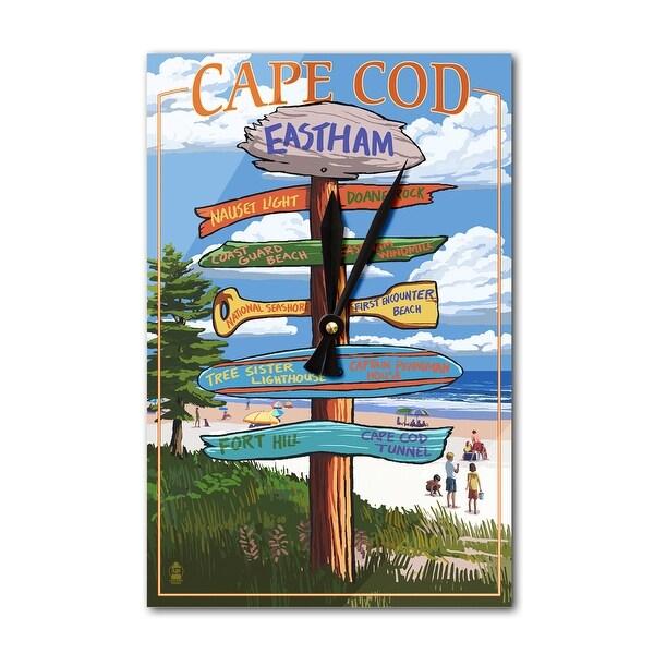 Eastham, MA Cape Cod - Dest Sign - LP Artwork (Acrylic Wall Clock) - acrylic wall clock