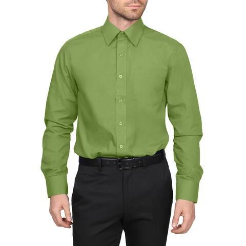 NE PEOPLE Men's Classic Regular Fit Button Down Long Sleeve Solid Color Dress Shirts 1XL-5XL (PLUS SIZES)