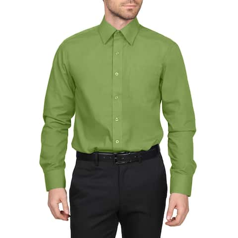 NE PEOPLE Men's Classic Regular Fit Button Down Long Sleeve Solid Color Dress Shirts S-L (REGULAR SIZES)