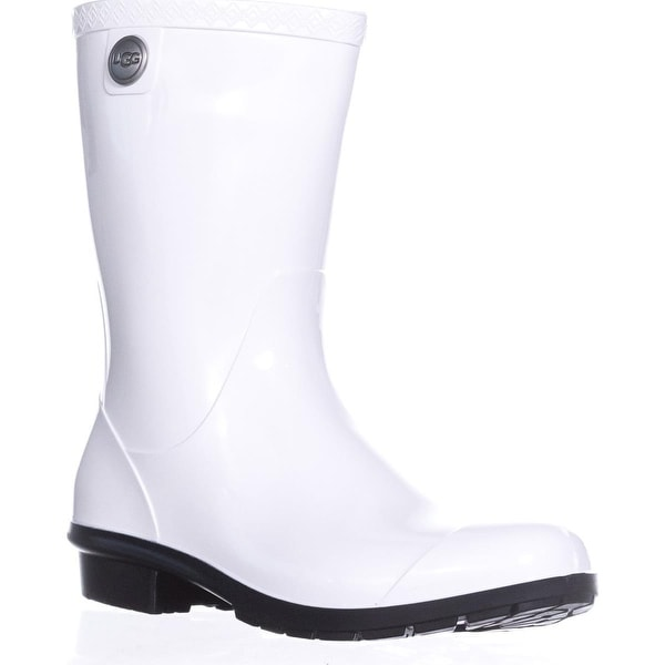 UGG Australia Sienna Mid-Calf Rain Boots, White/Black - 10 us / 41 eu