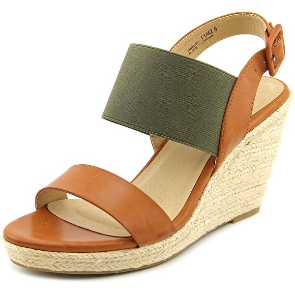 CL By Laundry Portia   Open Toe Synthetic  Wedge Sandal