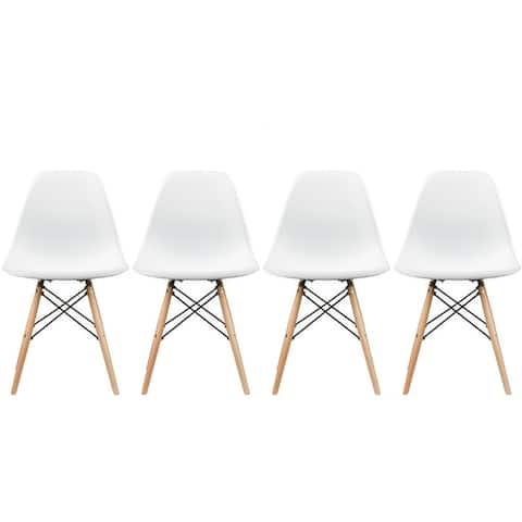 Mid-century Modern Molded Dining Chairs (Set of 4)