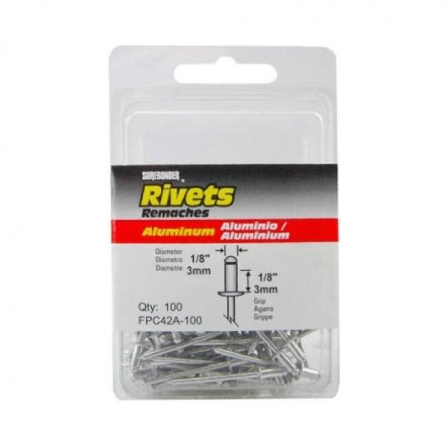 Surebonder FPC42A-100 Short Aluminum Rivet, 1/8 Dia., 100-Pack