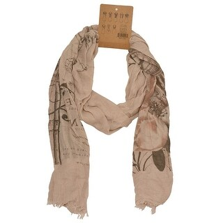 Fashion Scarf Womens Tan Abstract Pattern Soft Lightweight Trendy Scarf