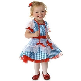 Baby Girls Dorothy Blue Checker Mesh Overlay Trims Halloween Costume 12M-2T