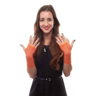 Fishnet Frenzy Wrist Length Fingerless Stretch Gloves