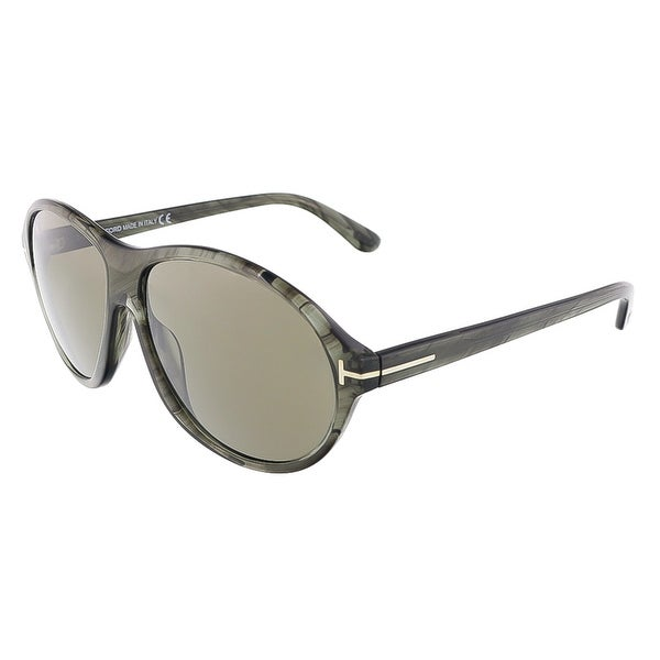 Tom Ford FT0398/S 20B TYLER Grey Marble Oval sunglasses - Grey Marble - 60-14-145