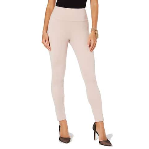 I.N.C Women's Shaping Double-Layer High-Waist Leggings, Peach Whip, XS