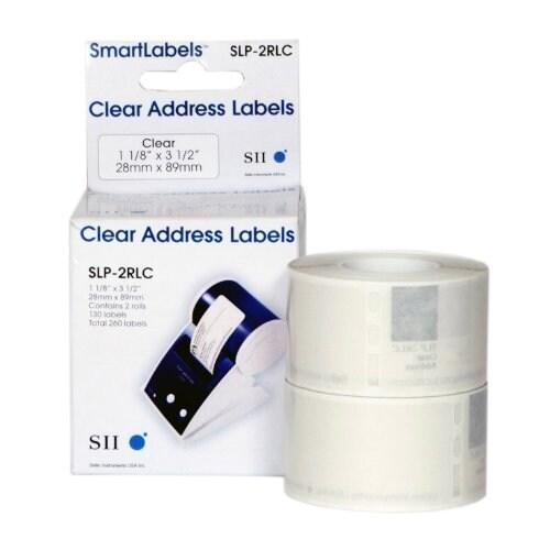 "Seiko Slp-2Rlc Self-Adhesive Address Labels For Label Printers, 3 1/2"" X 1 1/8"""