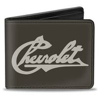 Chevrolet Heritage Script Charcoal Tan Bi Fold Wallet - One Size Fits most