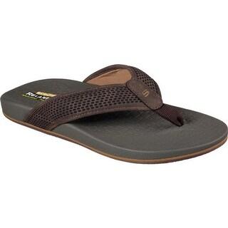 Skechers Men's Relaxed Fit Pelem Emiro Flip-Flop Dark Brown
