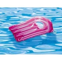 """Pink Metallic See Through Surf Rider Inflatable Pool Float for Ages 4 and up 30"""""""