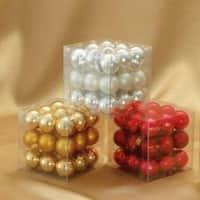 "1296-Piece Red, Gold & Silver Mini Glass Ball Christmas Ornament Set 1"" - multi"
