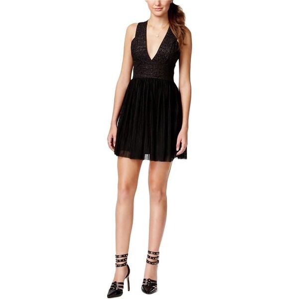 da1576ff64b Shop Trixxi Womens Juniors Party Dress Metallic Sleeveless - Free Shipping  On Orders Over  45 - Overstock - 14258035