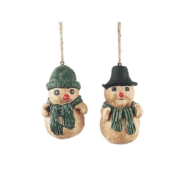 """Pack of 24 Candy Crush Jolly Snowman Christmas Ornaments 4"""""""