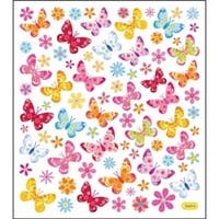 Butterflies & Flowers - Multicolored Stickers