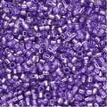 Miyuki Delica Seed Beads 11/0 - Dyed Silver Lined Lilac DB1347 7.2 Grams - Thumbnail 0