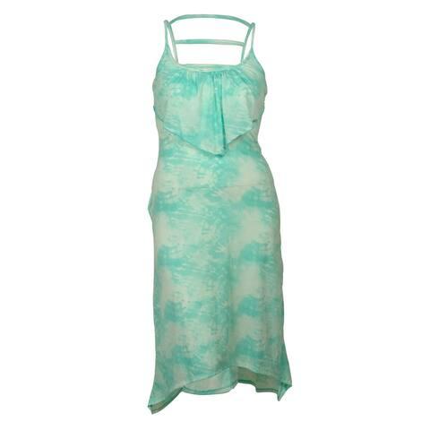 Miken Women's Maxi Flounce Tie-Dye Dress Cover ups