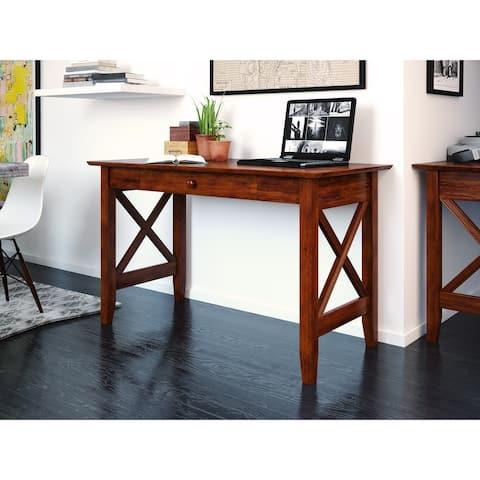Copper Grove Galax Walnut Wood Writing Desk
