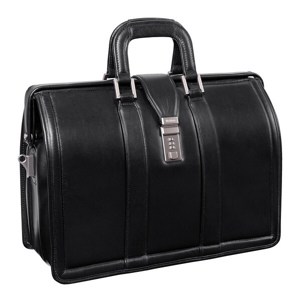 McKlein Morgan Black Litigator 17-inch Laptop Briefcase. Opens flyout.