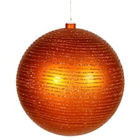 "8"" Burnish Orange Matte-Glitter Ball"