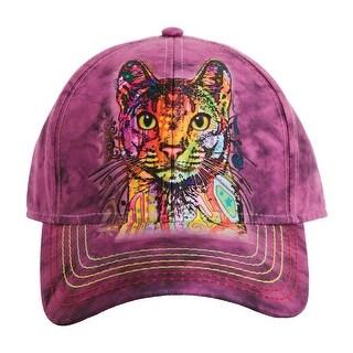 Unisex Adult Adjustable Tie Dye Animal Printed Baseball Hats - Cat