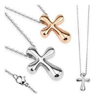 Cross Stainless Steel Pendant with Chain Necklace 23.6 Inches (7.8 mm) - 24 in