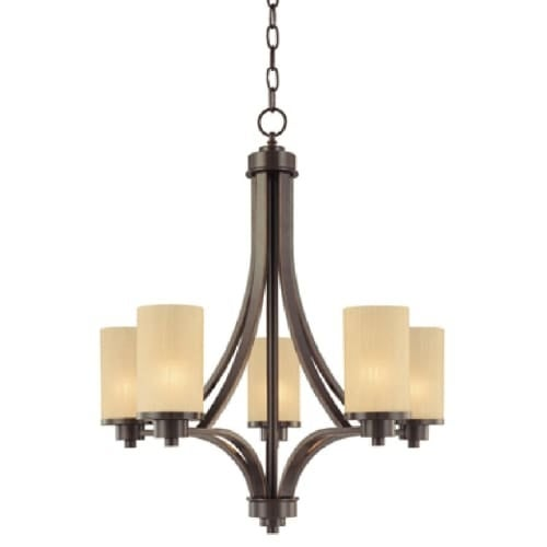 Artcraft Lighting AC1305 Parkdale Single-Tier Chandelier with 5 Lights - 24 Inches Wide