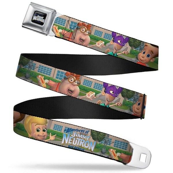 The Adventures Of Jimmy Neutron Logo Full Color Black Blues Full Color The Seatbelt Belt