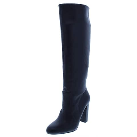 Steve Madden Womens Eton Knee-High Boots Solid Almond Toe