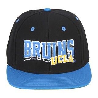 UCLA California Los Angeles Bruins Black Blue Two Tone Snapback Adjustable Hat - Black/Blue